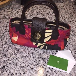 KATE SPADE floral canvas purse